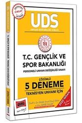 Yargı Yayınları - Yargı Yayınları 2020 UDS T.C. Gençlik ve Spor Bakanlığı Teknisyen Unvanı İçin Çözümlü 5 Deneme
