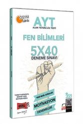 Yargı Yayınları - Yargı Yayınları 2021 AYT Fen Bilimleri 5x40 Motivasyon Deneme Sınavı