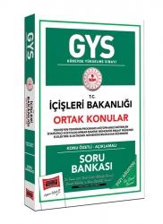 Yargı Yayınları - Yargı Yayınları GYS İçişleri Bakanlığı Ortak Konular Konu Özetli Soru Bankası