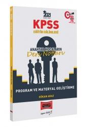 Yargı Yayınları - Yargı Yayınları 2021 KPSS Eğitim Bilimleri Program ve Materyal Geliştirme Anahtar Hocaların Ders Notları