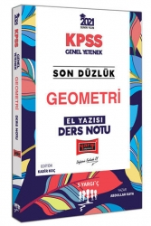 Yargı Yayınları - Yargı Yayınları 2021 KPSS Son Düzlük Geometri El Yazısı Ders Notu