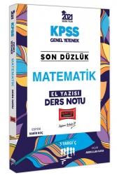 Yargı Yayınları - Yargı Yayınları 2021 KPSS Son Düzlük Matematik El Yazısı Ders Notu