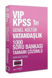 Yargı Yayınları - Yargı Yayınları 2021 KPSS VIP Vatandaşlık Tamamı Çözümlü 1000 Soru Bankası