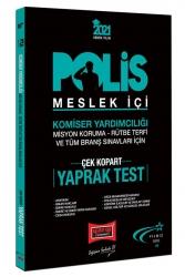 Yargı Yayınları - Yargı Yayınları 2021 Polis Meslek İçi Sınavlarına Hazırlık Çek Kopart Yaprak Test