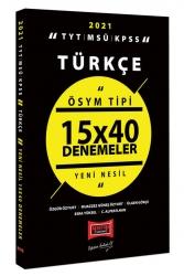 Yargı Yayınları - Yargı Yayınları 2021 TYT MSÜ KPSS Türkçe ÖSYM Tipi 15x40 Denemeler