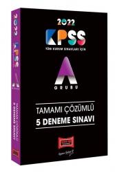 Yargı Yayınları - Yargı Yayınları 2022 KPSS A Grubu Tamamı Çözümlü 5 Deneme Sınavı