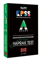 Yargı Yayınları - Yargı Yayınları 2022 KPSS A Hukuk İktisat Maliye Muhasebe Çek Kopart Yaprak Test