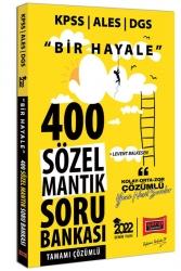 Yargı Yayınları - Yargı Yayınları 2022 KPSS ALES DGS Bir Hayale 400 Sözel Mantık Tamamı Çözümlü Soru Bankası