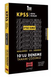 Yargı Yayınları - Yargı Yayınları 2022 KPSS Eğitim Bilimleri 10'SUZ Olmaz Tamamı Çözümlü 10'lu Deneme