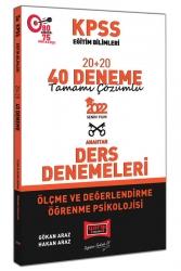 Yargı Yayınları - Yargı Yayınları 2022 KPSS Eğitim Bilimleri Ölçme ve Değerlendirme Öğrenme Psikolojisi Tamamı Çözümlü 20+20 40 Deneme