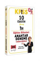 Yargı Yayınları - Yargı Yayınları 2022 KPSS Eğitim Bilimleri Tamamı Çözümlü 10 Özgün Anahtar Deneme