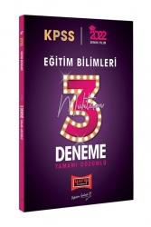 Yargı Yayınları - Yargı Yayınları 2022 KPSS Eğitim Bilimleri Tamamı Çözümlü Muhteşem 3 Deneme