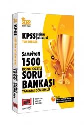 Yargı Yayınları - Yargı Yayınları 2022 KPSS Eğitim Bilimleri Tüm Dersler Şampiyon 1500 Tamamı Çözümlü Konu Özetli Soru Bankası