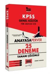 Yargı Yayınları - Yargı Yayınları 2022 KPSS Genel Kültür AnayasaPerver Tamamı Çözümlü 25 Deneme