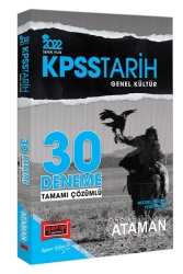 Yargı Yayınları - Yargı Yayınları 2022 KPSS Genel Kültür Tarih Ataman Tamamı Çözümlü 30 Deneme
