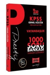 Yargı Yayınları - Yargı Yayınları 2022 KPSS Genel Kültür Vatandaşlık Prestij Seri Tamamı Çözümlü 1000 Soru Bankası
