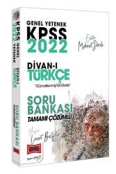 Yargı Yayınları - Yargı Yayınları 2022 KPSS Genel Yetenek Divan-ı Türkçe Tamamı Çözümlü Soru Bankası