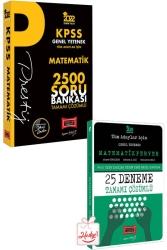 Yargı Yayınları - Yargı Yayınları 2022 KPSS Genel Yetenek Matematik Prestij Seri Tamamı Çözümlü 2500 Soru Bankası 25 Deneme Hediyeli
