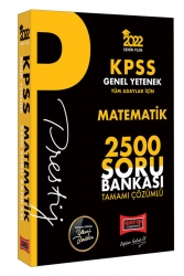 Yargı Yayınları - Yargı Yayınları 2022 KPSS Genel Yetenek Matematik Prestij Seri Tamamı Çözümlü 2500 Soru Bankası