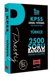 Yargı Yayınları - Yargı Yayınları 2022 KPSS Genel Yetenek Türkçe Prestij Seri Tamamı Çözümlü 2500 Soru Bankası