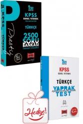 Yargı Yayınları - Yargı Yayınları 2022 KPSS Genel Yetenek Türkçe Prestij Seri Tamamı Çözümlü 2500 Soru Bankası ve Yaprak Test Hediyeli