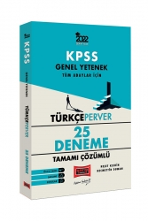 Yargı Yayınları - Yargı Yayınları 2022 KPSS Genel Yetenek TürkçePerver Tamamı Çözümlü 25 Deneme