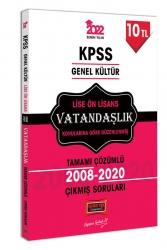 Yargı Yayınları - Yargı Yayınları 2022 KPSS GK Lise Ön Lisans Vatandaşlık Tamamı Çözümlü Çıkmış Sorular