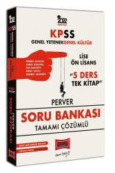 Yargı Yayınları - Yargı Yayınları 2022 KPSS GY GK Lise Ön Lisans 5 Ders Tek Kitap Perver Tamamı Çözümlü Soru Bankası