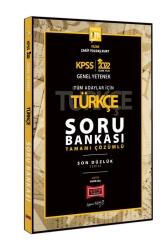 Yargı Yayınları - Yargı Yayınları 2022 KPSS GY GK Son Düzlük Türkçe Tamamı Çözümlü Soru Bankası