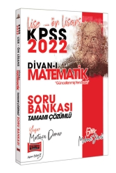 Yargı Yayınları - Yargı Yayınları 2022 KPSS Lise Ön Lisans Divan-ı Matematik Tamamı Çözümlü Soru Bankası