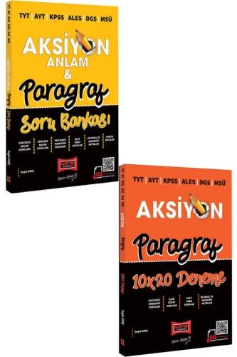 Yargı Yayınları - Yargı Yayınları 2022 TYT AYT KPSS ALES DGS MSÜ Aksiyon Anlam & Paragraf Soru Bankası ve 10x20 Deneme Seti