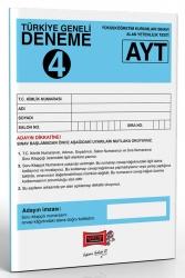 Yargı Yayınları - Yargı Yayınları AYT Türkiye Geneli Deneme 4