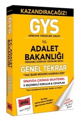 Yargı Yayınları - Yargı Yayınları GYS Adalet Bakanlığı Yazı İşleri Kadrosu İçin Genel Tekrar