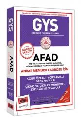 Yargı Yayınları - Yargı Yayınları GYS AFAD Anbar Memuru Kadrosu İçin Konu Özetli Çıkmış ve Çıkması Muhtemel Sorular