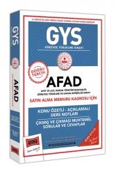 Yargı Yayınları - Yargı Yayınları GYS AFAD Satın Alma Memuru Kadrosu İçin Konu Özetli Çıkmış ve Çıkması Muhtemel Sorular