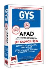 Yargı Yayınları - Yargı Yayınları GYS AFAD Şef Kadrosu İçin Konu Özetli Çıkmış ve Çıkması Muhtemel Sorular