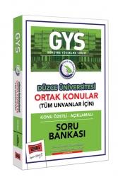 Yargı Yayınları - Yargı Yayınları GYS Düzce Üniversitesi Ortak Konular Konu Özetli - Açıklamalı Soru Bankası