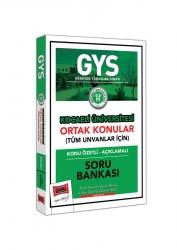 Yargı Yayınları - Yargı Yayınları GYS Kocaeli Üniversitesi Ortak Konular Konu Özetli - Açıklamalı Soru Bankası