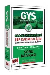 Yargı Yayınları - Yargı Yayınları GYS Kocaeli Üniversitesi Şef Kadrosu İçin Konu Özetli Açıklamalı Soru Bankası