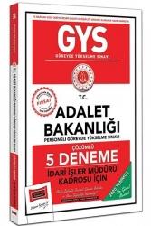 Yargı Yayınları - Yargı Yayınları GYS T.C. Adalet Bakanlığı İdari İşler Müdürü Kadrosu İçin Çözümlü 5 Deneme