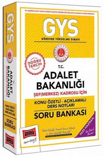 Yargı Yayınları GYS T.C. Adalet Bakanlığı Şef (Merkez) Kadrosu İçin Konu Özetli Soru Bankası