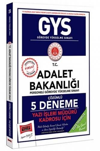 Yargı Yayınları GYS T.C. Adalet Bakanlığı Yazı İşleri Müdürü Kadrosu İçin Çözümlü 5 Deneme