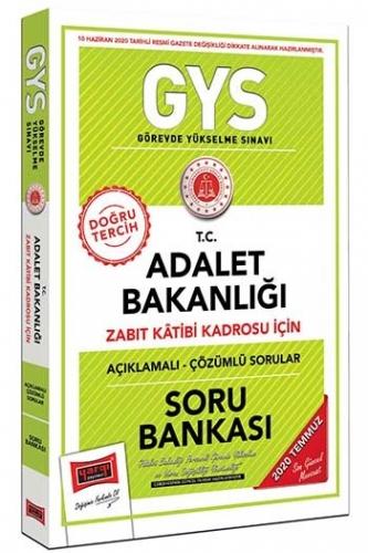Yargı Yayınları GYS T.C. Adalet Bakanlığı Zabıt Katibi Kadrosu İçin Açıklamalı Soru Bankası