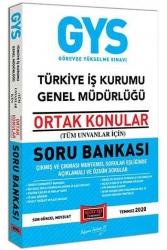 Yargı Yayınları - Yargı Yayınları GYS Türkiye İş Kurumu Genel Müdürlüğü Ortak Konular Soru Bankası