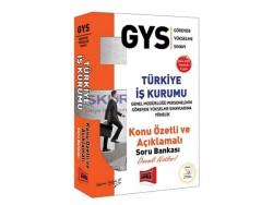 Yargı Yayınevi - Yargı Yayınları GYS Türkiye İş Kurumu Konu Özetli Açıklamalı Soru Bankası