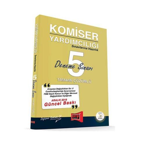 Yargı Yayınları Komiser Yardımcılığı Sınavlarına Hazırlık Tamamı Çözümlü 5 Deneme Sınavı