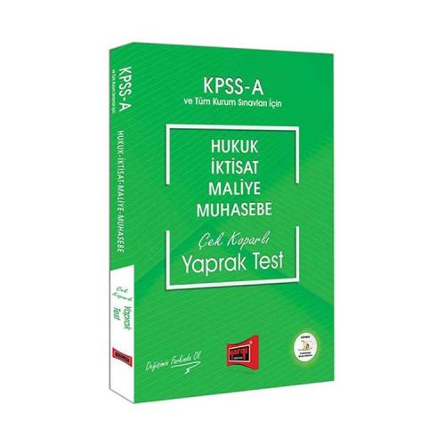 Yargı Yayınları KPSS A Grubu Hukuk-İktisat-Maliye-Muhasebe Çek Koparlı Yaprak Test