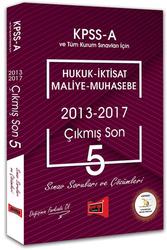 Yargı Yayınları - Yargı Yayınları KPSS A Grubu Hukuk - İktisat - Maliye - Muhasebe Çıkmış Son 5 Sınav Soruları ve Çözümleri