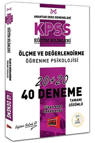 Yargı Yayınları KPSS Eğitim Bilimleri Ölçme ve Değerlendirme, Öğrenme Psikolojisi Tamamı Çözümlü 40 Deneme