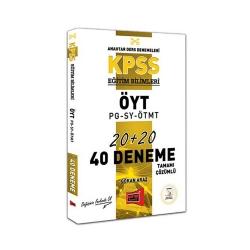 Yargı Yayınevi - Yargı Yayınları KPSS Eğitim Bilimleri ÖYT-PG-SY-ÖTMT Tamamı Çözümlü 40 Deneme